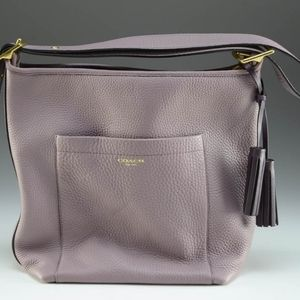 Coach Legacy Pebble Leather Duffel Bag In Lilac